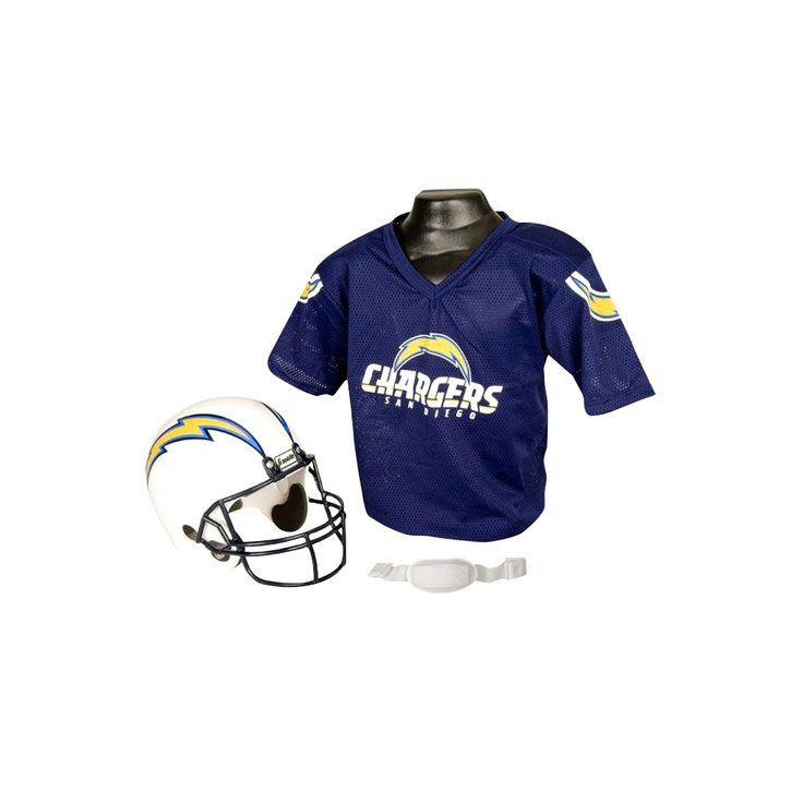 Franklin Sports NFL Team Helmet and Jersey Set - Ages 5-9 - Los Angeles Chargers, Kids Unisex, Size: Small