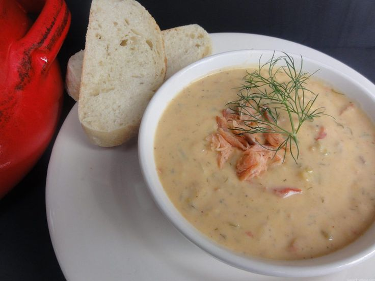 This recipe for Wild Alaskan Smoked Salmon Chowder is thick with potatoes, onion and salmon. The perfect lunch or dinner on a cold day.