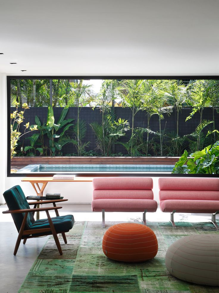 A Great Living Room With A Huge, Bright Window Wall Overlooking The  In Ground Pool.   (DM House By Studio Guilherme Torres). Though I Would  Decorate The ... Part 71