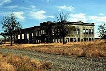 The remains of the original Hanford High School.  Hanford, Washington