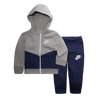 Baby Boy Nike Colorblocked Zip Hoodie & Jogger Pants Set