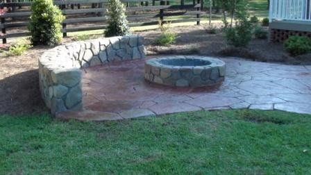 Seattle Stamped Concrete Patio Firepit Google Search