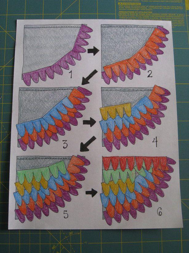 bird wings costume pattern