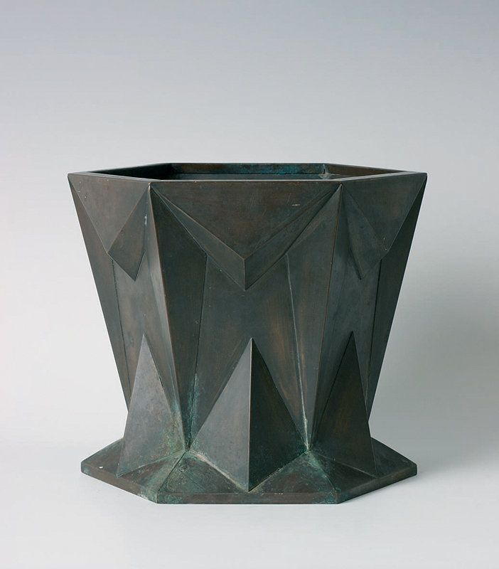 cubism furniture. antonin prochazka cubist urn u2013 jardiniere bohemia circa 1916 base metal flowerpot case cubism furniture i