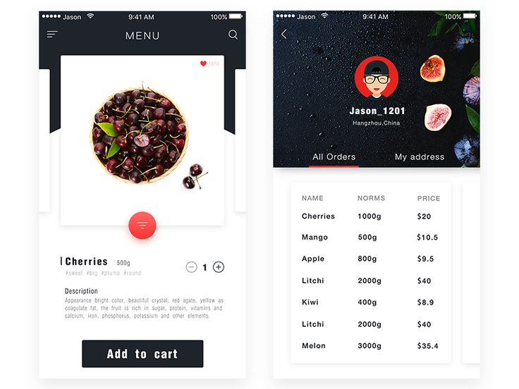 Recipe Fruits Interface  by Xu