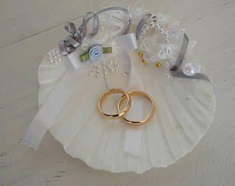 Shell Ring Holder Wedding Ring Holder Seashell Ring Bearer Wedding