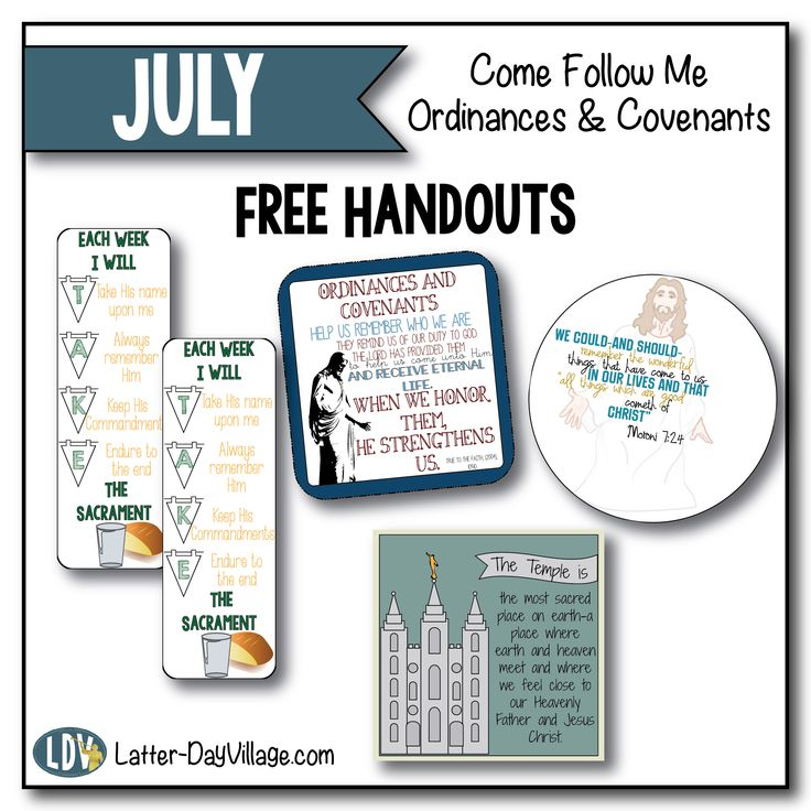 Latter Day Village is now offering our Sunday School handouts for FREE each…