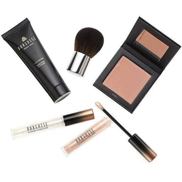 Borghese Radiant Highlight Five-Piece Set ($39) ❤ liked on Polyvore featuring beauty products, makeup, beauty, filler, no color, borghese makeup, borghese cosmetics and highlight makeup