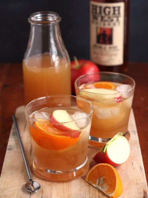 Apple Cider Old-Fashioned Cocktail