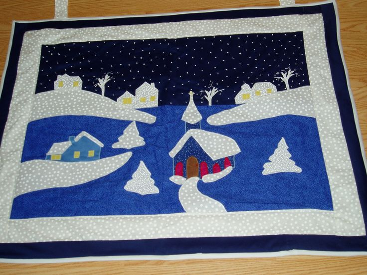 snow scene: Applies Quilts, Comfy Quilts, Christmas W Quilts, Quilti Things, Patchwork Quilts, Scenes, Christmas Tables, Tables Runners, Snow Tables