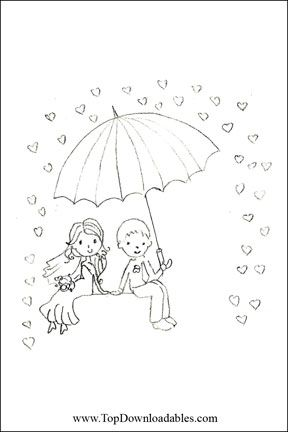 cute wedding coloring page