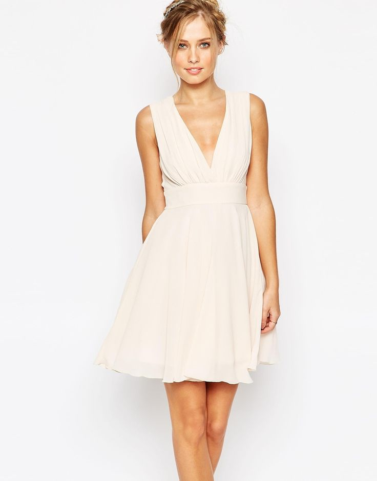 TFNC Neck Skater Dress - ASOS