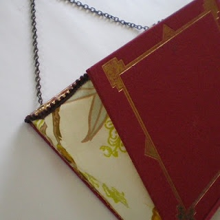 Recycled Book Hanging Mail Folder
