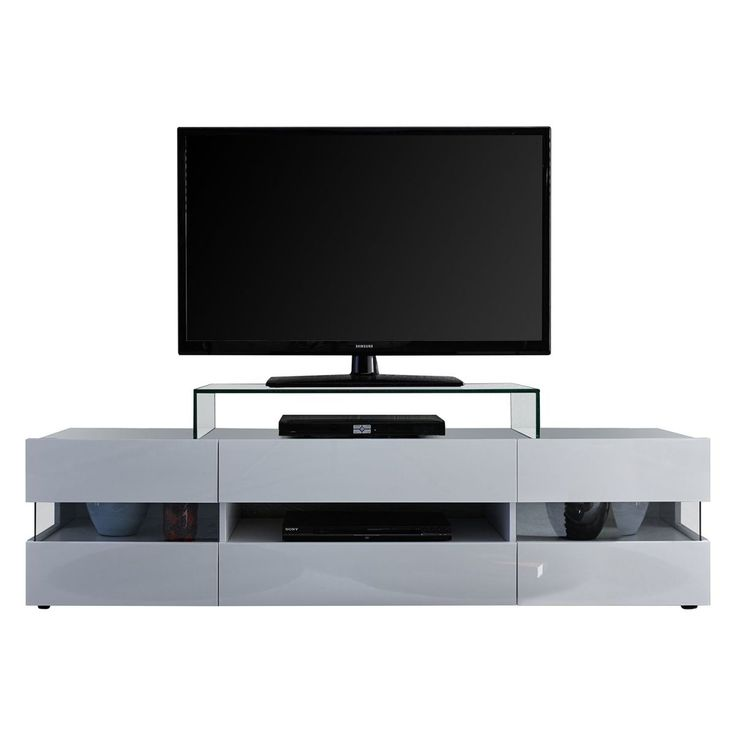 TV-Lowboard Sonic - Hochglanz Weiß / Weiß, Trendteam Jetzt bestellen unter: https://moebel.ladendirekt.de/wohnzimmer/tv-hifi-moebel/tv-lowboards/?uid=6bbeade3-ccaa-5c5a-9956-e1405d10656e&utm_source=pinterest&utm_medium=pin&utm_campaign=boards #trendteam #möbel #kommoden #tvlowboards #wohnzimmer #sideboards #tvhifimoebel