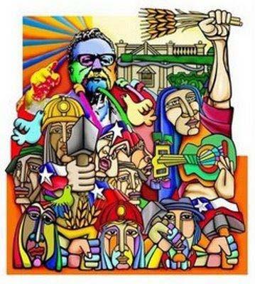 Afiche histórico de Chile en tiempos del Gobierno del Presidente Salvador Allende.