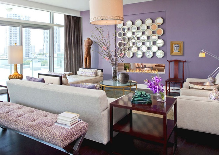 13 best images about nuvo design portfolio on pinterest for Purple and cream living room ideas