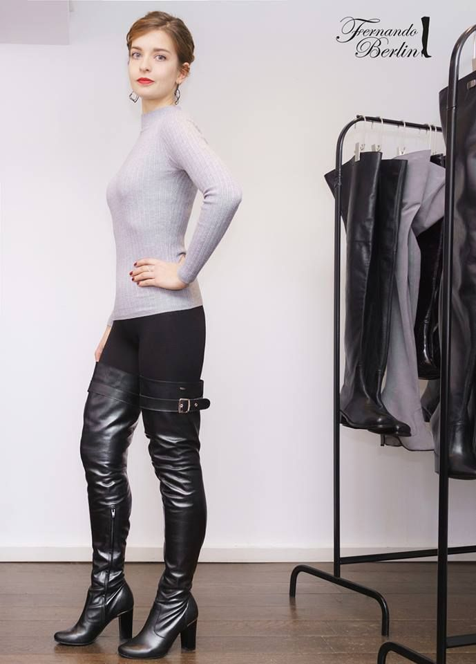 7829b7e55b0440 Classy Fernando Berlin thigh boots outfit