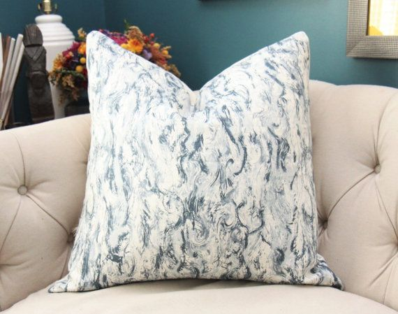 zak and fox pillow cover kaze in west blue pillow cover geometric throw modern blue brush stroke pillow blue and off white