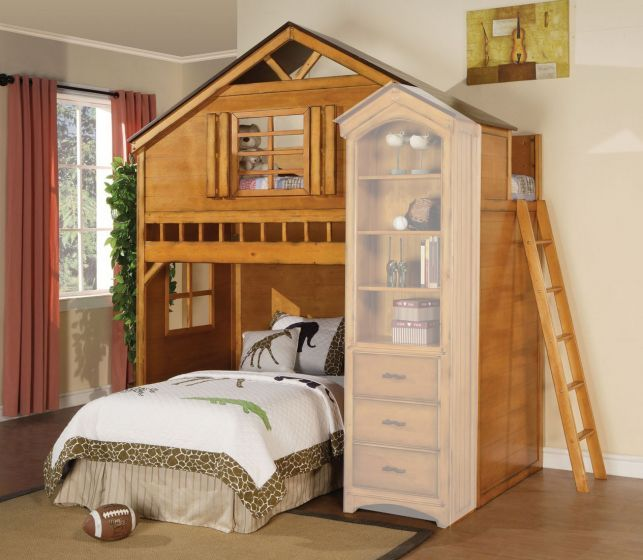 acme-10160-montana-rustic-oak-tree-house-loft-bed