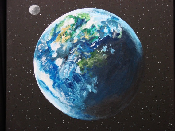 1000+ images about Planet Paintings on Pinterest   Mars ...