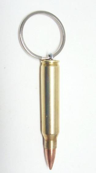 AR-15 223 Brass Bullet Keychain