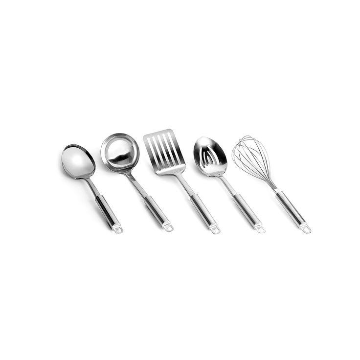 Range Kleen Stainless Steel Kitchen Tool Set, Multicolor