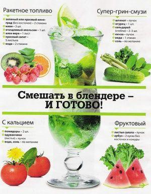 зеленые коктели