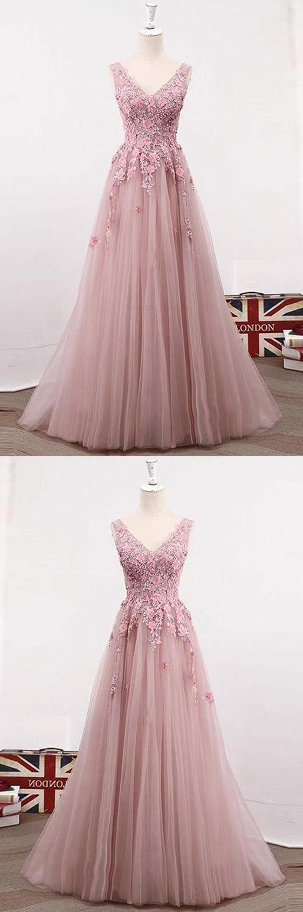 Custom Made Delightful Prom Dresses Lace, Pink Prom Dresses, Prom Dresses Long, Prom Dresses A-Line