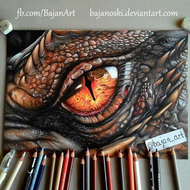 colored pencil dragon drawings - Google Search