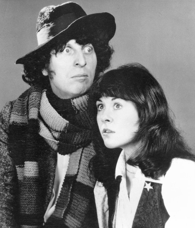 Doctor Who - The Fourth Doctor (Tom Baker) and his companion Sarah Jane Smith (Elizabeth Sladen).