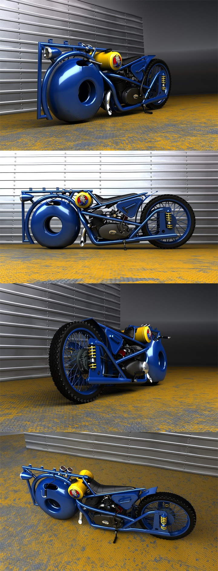 Izh fallout blue concept motorcycle original from http solifdesign blogspot