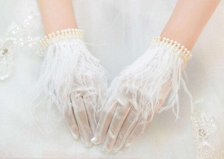 Купить товар2014 мода новый жемчуг перо невесты короткое свадебное платье невесты перчатки красивое платье перчатки свадебные аксессуары в категории Свадебные перчаткина AliExpress.                    Добро пожаловать в наш магазин                                 Наши свадебные перчатки все поль