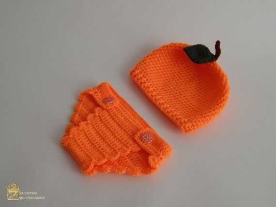 Diaper Cover Crochet and Hat Infant Baby Diaper от Exclusive72