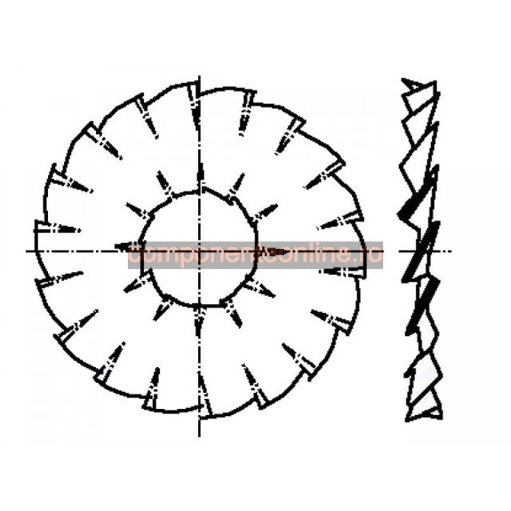 Saiba dintata in interior si exterior, 3x12,4mm, otel elastic, Bossard - 007256