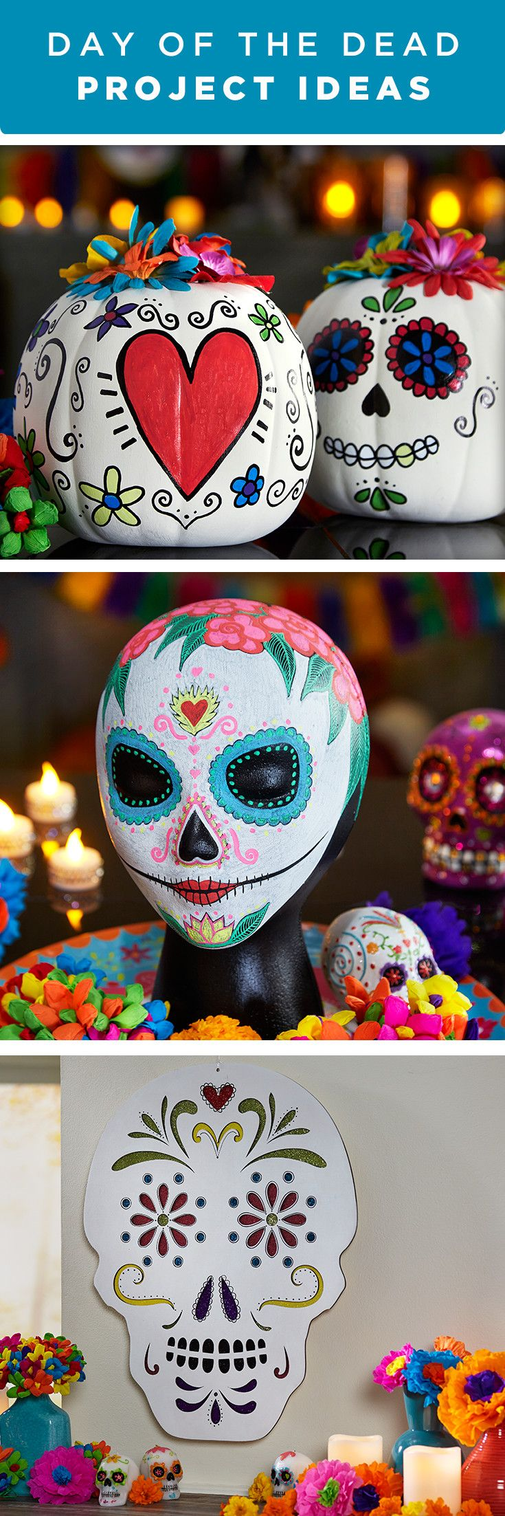celebrate dia de los muertos with colorful day of the dead project ideas find everything - Michaels Halloween Decorations