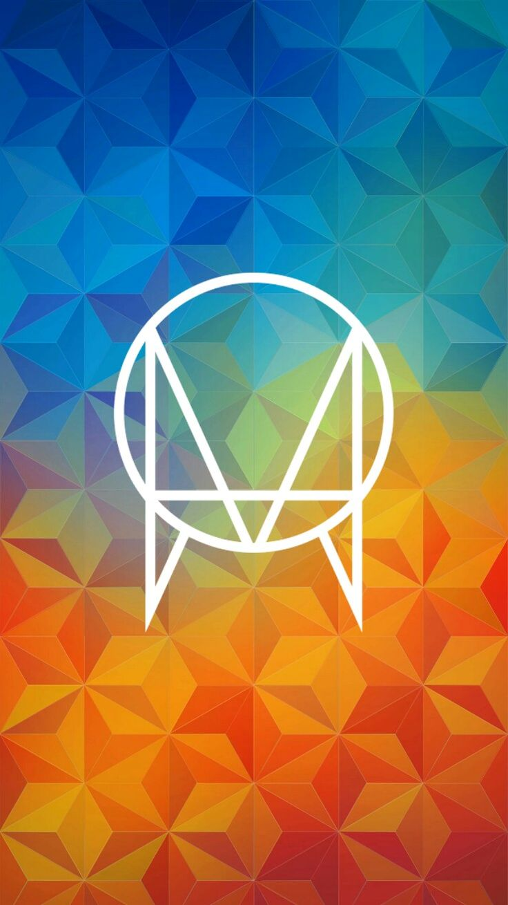 An Owsla logo in a colorful design with a blend of hot and cool colors