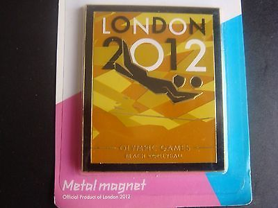 LONDON 2012 OLYMPIC VENUE SPORT POSE PICTOGRAM BEACH VOLLEYBALL METAL MAGNET UK