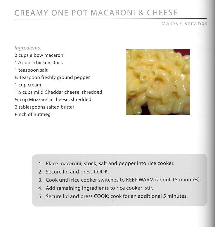 Wolfgang Puck Rice Cooker Mac N Cheese!