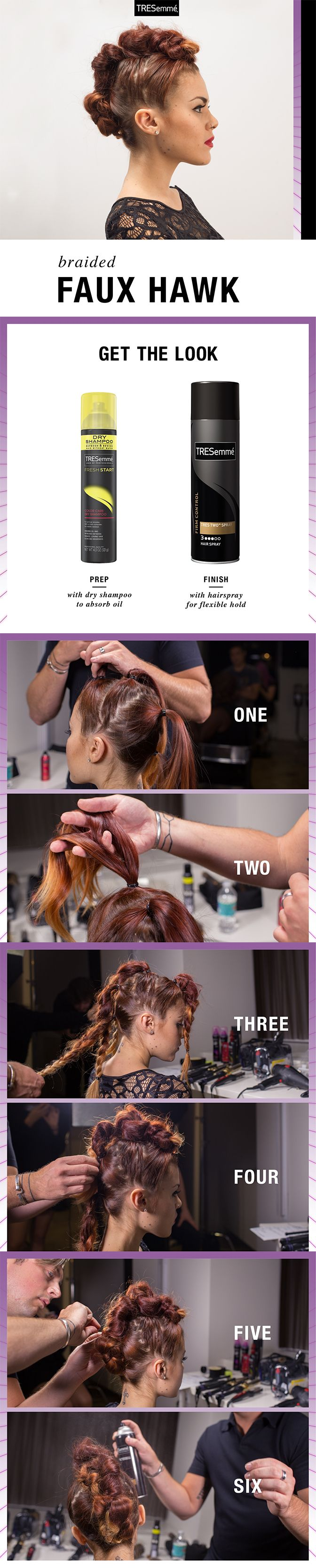The last thing you'll want to do is hideaway with this MTV VMA-inspired fab faux hawk.