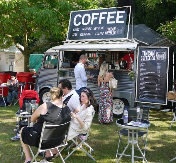 Tin Can Coffee Company vintage Citroen coffee van
