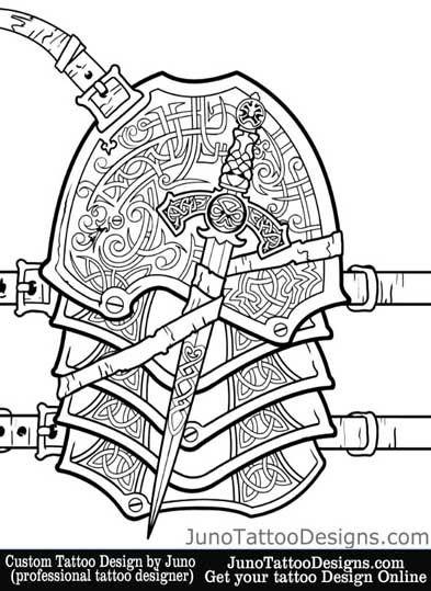 armor sleeve tattoo by JunoTattooDesigns - Custom tattoos online made to order - http://junotattoodesigns.com/