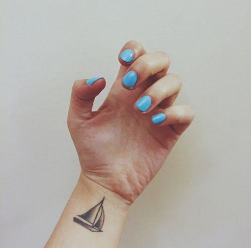 My sailboat tattoo.                                                                                                                                                                                 More