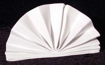 The Standing Napkin Fan Fold