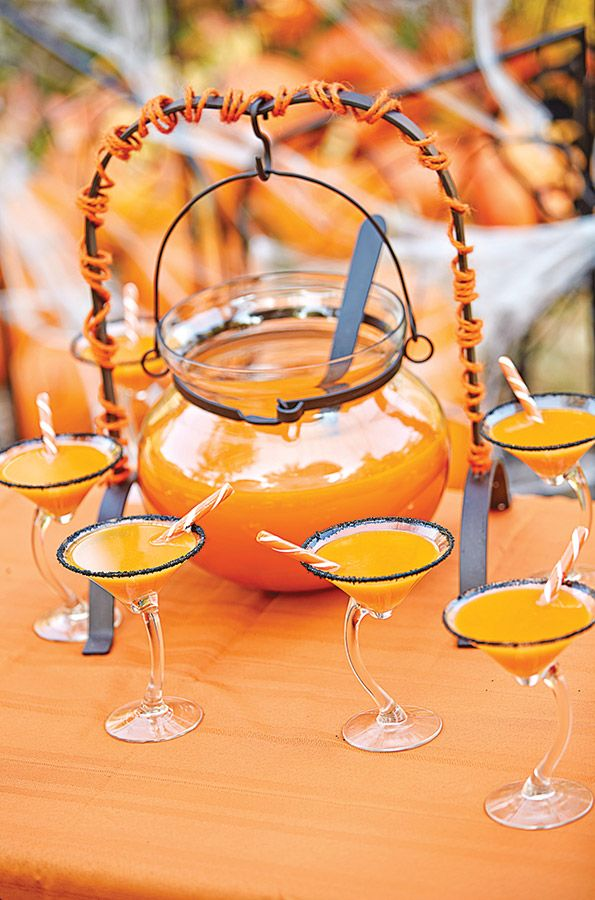 Spiked with vanilla vodka, this orange crush punch is the perfect boo-zy mixed drink — serve it in a cauldron to make it feel extra festive for your Halloween Party!