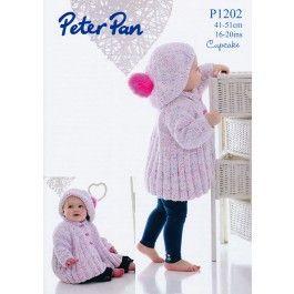 Swing Jacket and Beret in Peter Pan Cupcake (P1202) £2.99