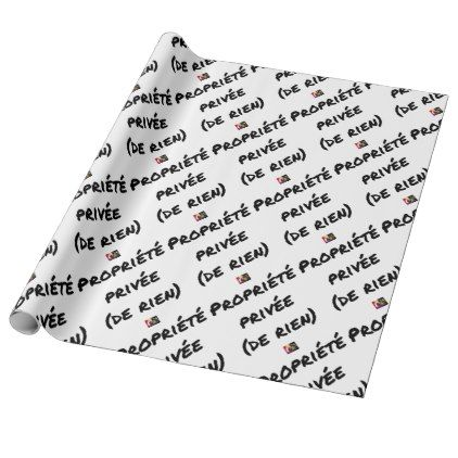 PRIVATE PROPERTY - Word games - François City Wrapping Paper - valentines day gifts love couple gift idea my love valentine