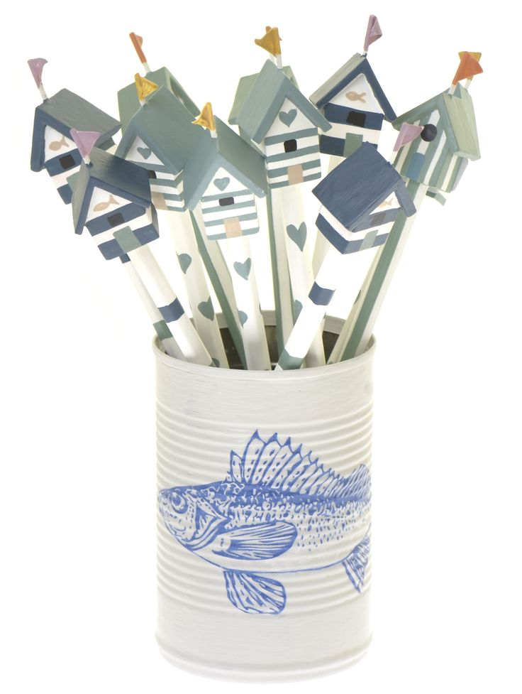 Beach hut topped pencils, £2.95 each