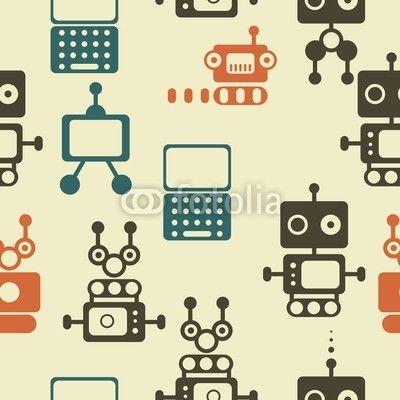 Tapet med robotar