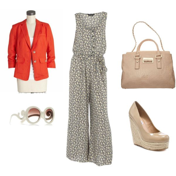 """""""Make It Work for Work: Jumpsuit with a 70s Vibe"""" by thebudgetbabe on Polyvore"""