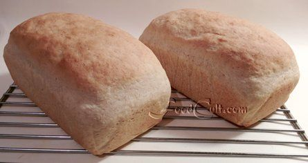 #PotatoBread needn't be #WhiteBread. This #homemade #organic #loaf of #bread is #baked with 10 % #WholeWheat and #psyllium #fibre #husk. This gives a little color and a slightly #nutty flavor while maintaining the texture from the #potato. It's FANTASTIC for #GrilledCheese #sandwiches a #BLT or your favourite, traditional white bread #sandwich. Use this #recipe: http://www.foodcult.com/potatobread.php ... start with your favourite #fiber enhancer and reduce your #flour accordingly